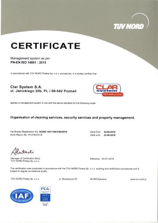 Inne rodzaje CLAR SYSTEM - ISO ZM37